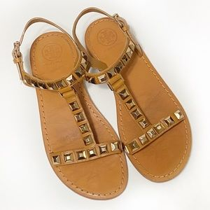 Tory Burch Studded T-Strap Sandals
